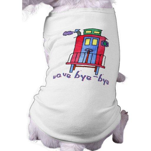 ropa del mascota del Caboose del adiós de la onda Ropa De Mascota