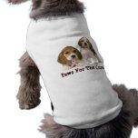 Ropa del mascota del cáncer de pecho del beagle camisa de mascota