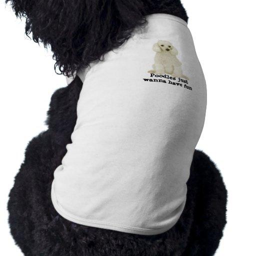 Ropa del mascota del caniche playera sin mangas para perro