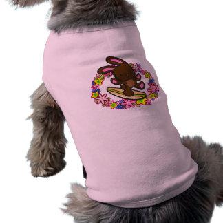 Ropa del mascota del conejito del chocolate que camiseta de perro
