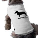 Ropa del mascota del Dachshund del Lowrider Playera Sin Mangas Para Perro