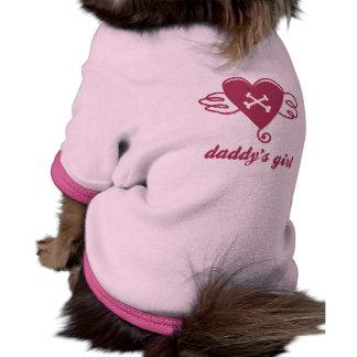 ropa del mascota del desgaste del chica del papá camisa de perro
