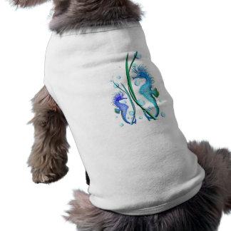 Ropa del mascota del dibujo animado de los caballo playera sin mangas para perro
