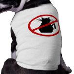 Ropa del mascota del enemigo del gato camisa de perrito