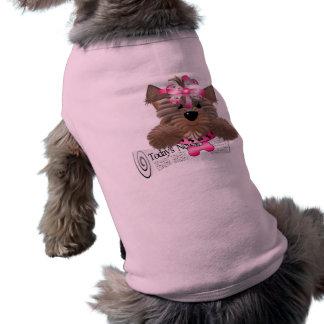 Ropa del mascota del estilo de Yorkie Camiseta De Perro