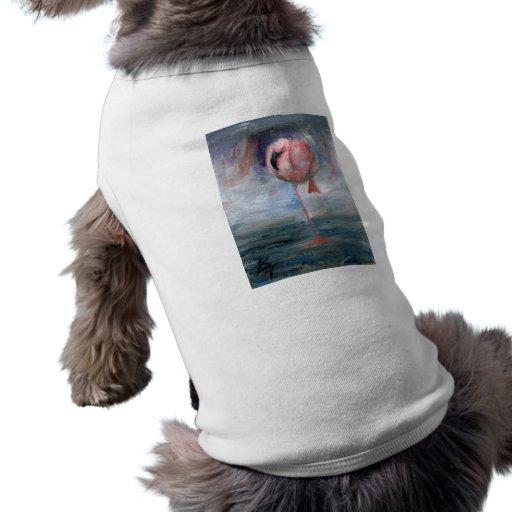 Ropa del mascota del flamenco ACEO Camisa De Perro