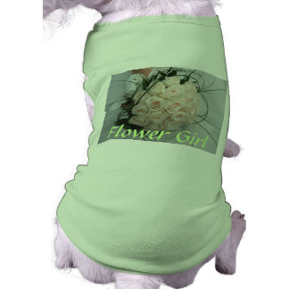 Ropa del mascota del florista del boda playera sin mangas para perro