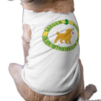 Ropa del mascota del golden retriever del estado j playera sin mangas para perro