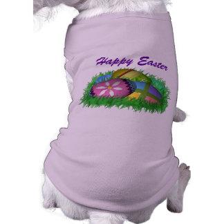 Ropa del mascota del huevo de Pascua Playera Sin Mangas Para Perro