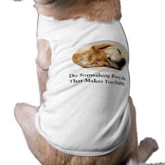 Ropa del mascota del labrador retriever y del gato playera sin mangas para perro