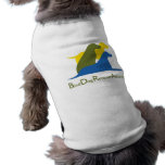 Ropa del mascota del logotipo camiseta de mascota