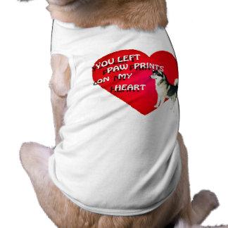 Ropa del mascota del Malamute de Alaska Playera Sin Mangas Para Perro