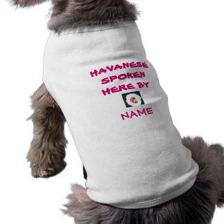 Ropa del mascota del mascota T de Havanse Camisetas Mascota