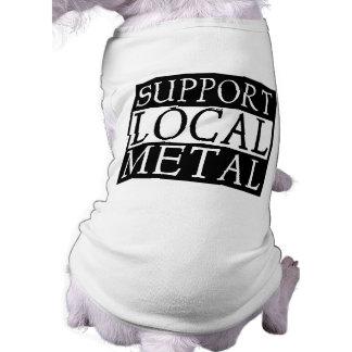 Ropa del mascota del metal playera sin mangas para perro