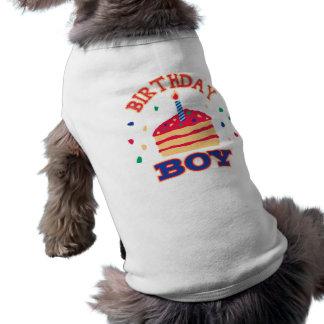 Ropa del mascota del muchacho del cumpleaños playera sin mangas para perro