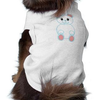 Ropa del mascota del oso polar playera sin mangas para perro