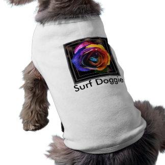 Ropa del mascota del perrito de la resaca de la playera sin mangas para perro
