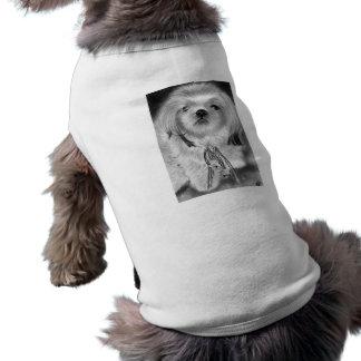 Ropa del mascota del perrito de las campanas de pl playera sin mangas para perro