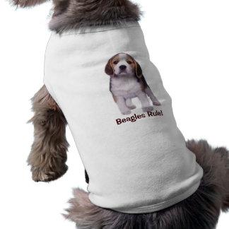Ropa del mascota del perrito del beagle playera sin mangas para perro