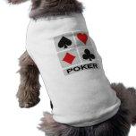Ropa del mascota del póker camisetas de perro