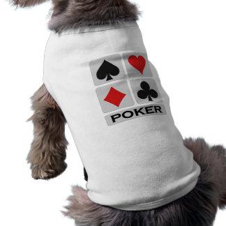 Ropa del mascota del póker playera sin mangas para perro