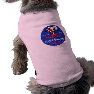 Ropa del mascota del senado 2010 de RUBIO Playera Sin Mangas Para Perro