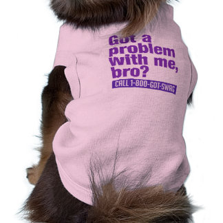 Ropa del mascota del SWAG Playera Sin Mangas Para Perro