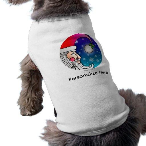 Ropa del mascota - luna de Santa Playera Sin Mangas Para Perro