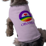 Ropa del mascota - orgullo de Obama Camisa De Perrito