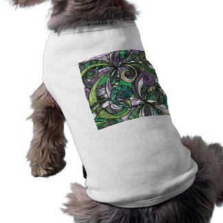Ropa del mascota que dibuja Zentangle floral Camisetas De Mascota