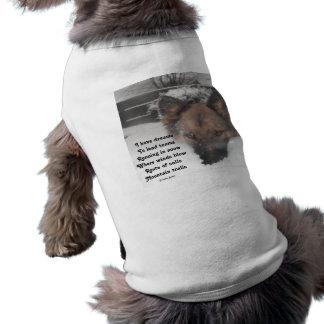 Ropa del mascota tengo poema de los sueños al lado playera sin mangas para perro