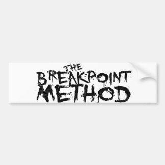 Ropa del método del punto de desempate etiqueta de parachoque