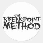 Ropa del método del punto de desempate pegatina redonda