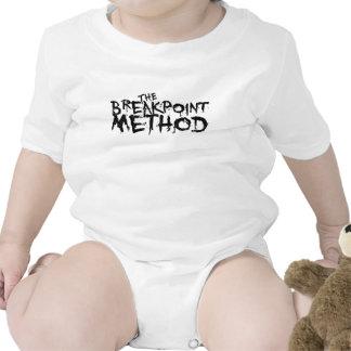 Ropa del método del punto de desempate trajes de bebé