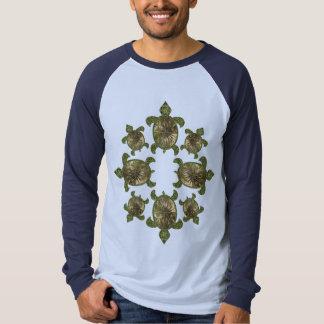 Ropa del modelo de las tortugas del jardín playera