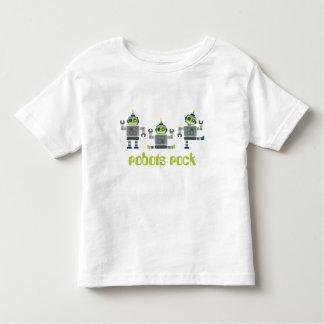 ROPA DEL NIÑO:: robots x 3 Playera De Bebé