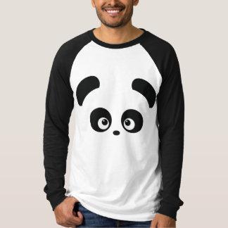 Ropa del raglán de los hombres de Panda® del amor Playera