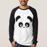 Ropa del raglán de los hombres de Panda® del amor Polera