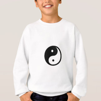 Ropa del símbolo blanco y negro de Yin/de Yang Sudadera