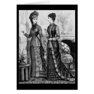 Ropa del Victorian Tarjeta De Felicitación