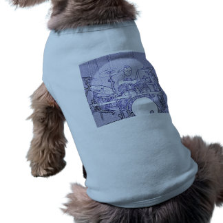 Ropa determinada del mascota del dibujo del tambor camisetas de perrito