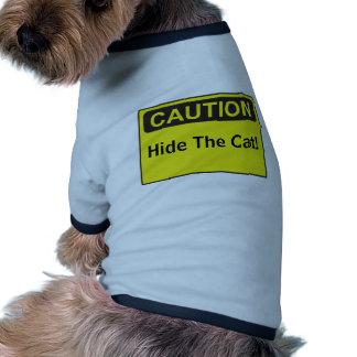 Ropa divertida del perro de la precaución del camiseta de perro