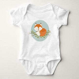 Ropa dulce del bebé del Fox del arbolado Body Para Bebé