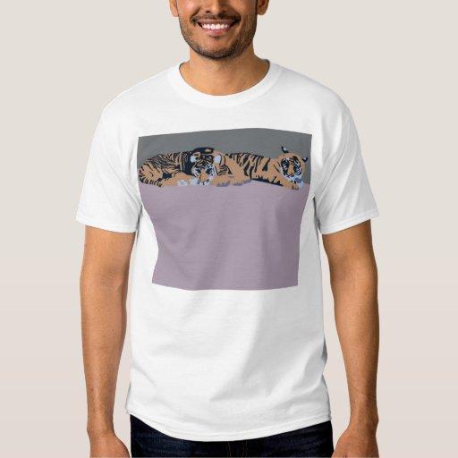 Ropa el dormir de Sumatran Cubs del tigre Remera