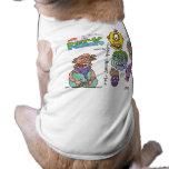 ¡ropa enferma de la mente 4 perritos de DA! Camisetas De Perro