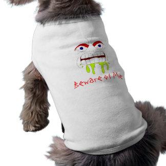 Ropa enojada enojada del mascota de la cara playera sin mangas para perro