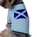 Ropa escocesa de la bandera camisas de mascota