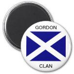 Ropa escocesa de la bandera iman