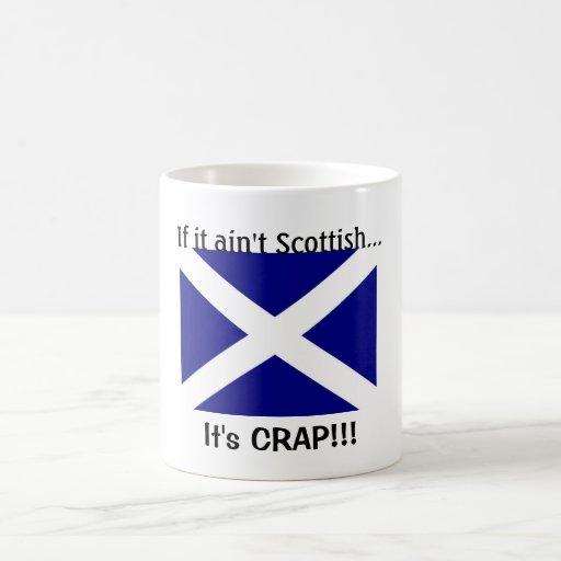 Ropa escocesa de la bandera taza clásica