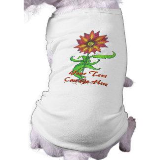 Ropa estilizada salvaje del mascota de la flor playera sin mangas para perro
